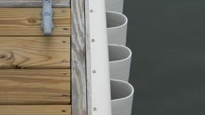 white rub rail and wave gaurd