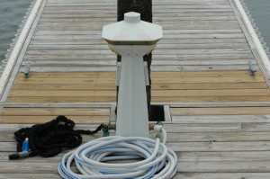 power pedestal and water hookup