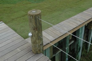 cable hand rails and beautiful ipe deck