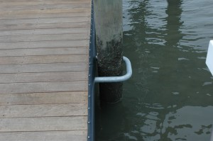 black rub rail and piling hoop
