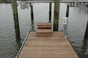 custom steps to get on and off boat