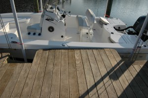 BoatzRight step out tailored to each lift to make it easier to get on and off boat