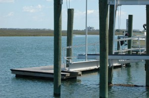 boat lift and floating dock